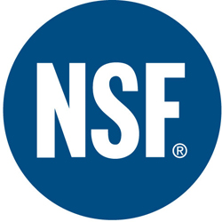 NSF Certification for our BoreSaver Ultra C Treatment of Iron Oxide and Iron Bacteria