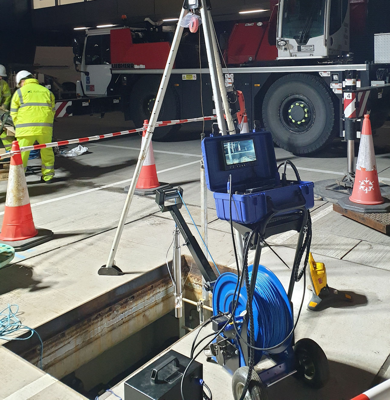 R-CAM TLE Level Wind Borehole Camera on Jobsite