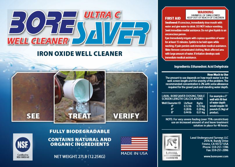 BoreSaver Ultra C Information Label for Treatment of Iron Oxide and Iron Bacteria